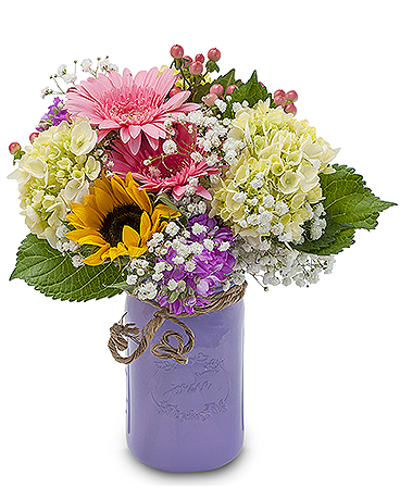 Fresh Cottage Flower Arrangement
