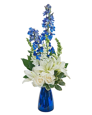 Blue Vibrations Flower Arrangement