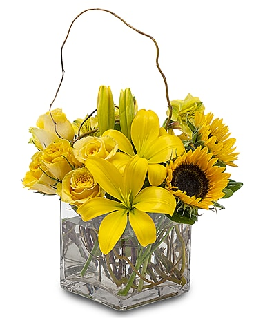 Sunny Side Up Flower Arrangement