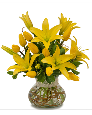 Fresh Lilies Flower Arrangement