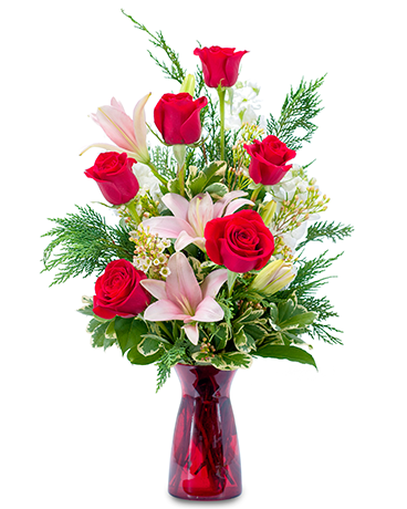 Winter Caress Flower Arrangement