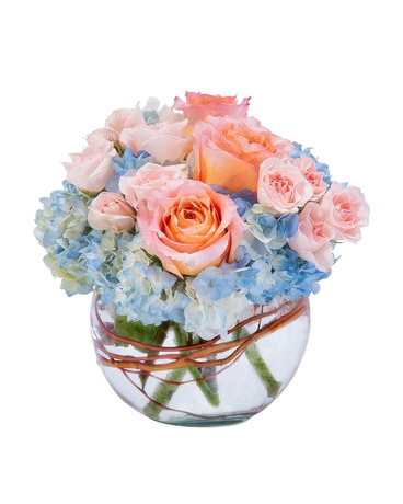 Peaches and Dream Flower Arrangement