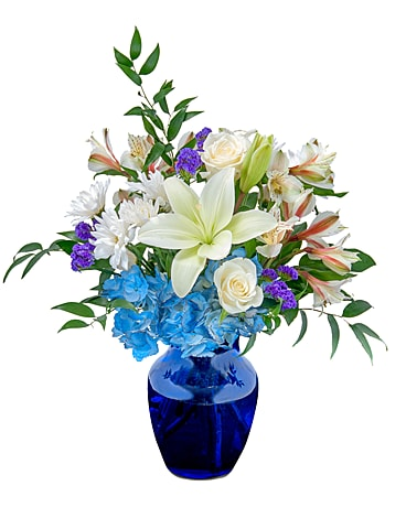 Blue Island Flower Arrangement