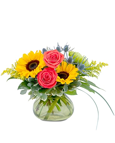 Sunlit Flower Arrangement