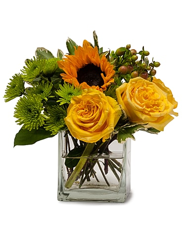 Sunny Limeade Flower Arrangement