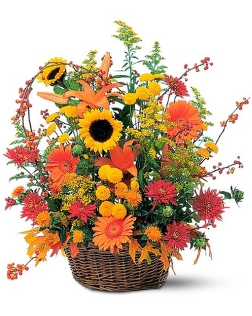 Majestic Fall Basket Arrangement