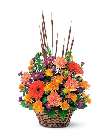 Fall Meadow Basket Arrangement