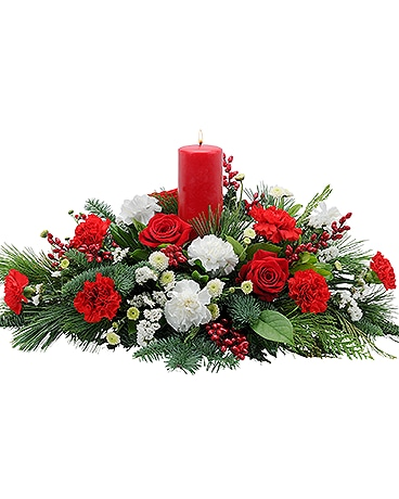 Candy Cane Symphony Flower Arrangement