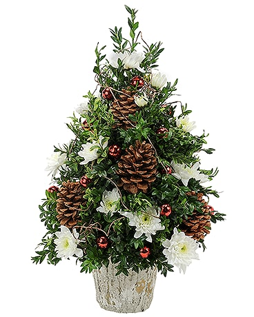 Traditional Boxwood Flower Arrangement