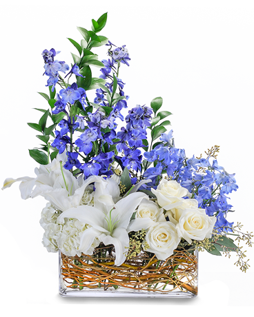 Majestic Blue Flower Arrangement