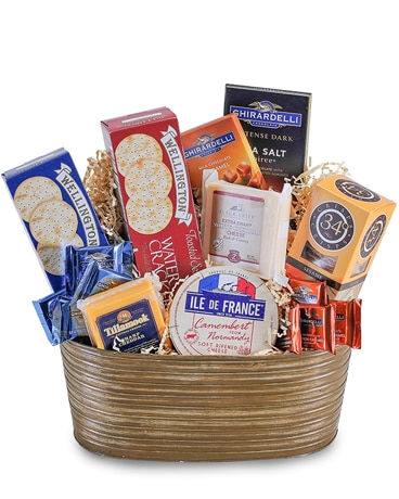 Cheese and Cracker Delight Gift Basket