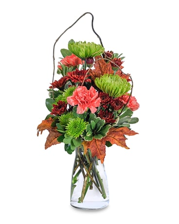 Leaves of Fall Flower Arrangement