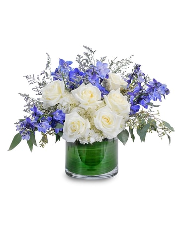 Blue Frost Flower Arrangement