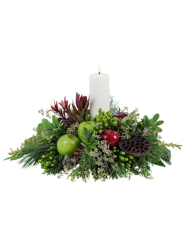 Glowing Merlot Flower Arrangement