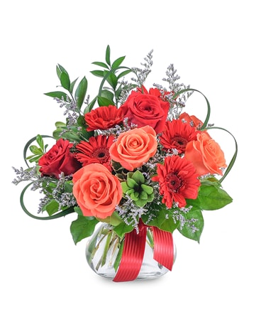 Scarlet Flame Flower Arrangement