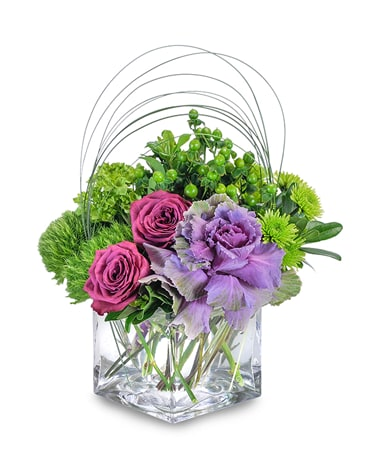 Magenta Shelter Flower Arrangement