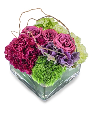 Magenta Garden Flower Arrangement