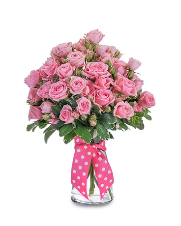 Pink Twinkledotted Flower Arrangement