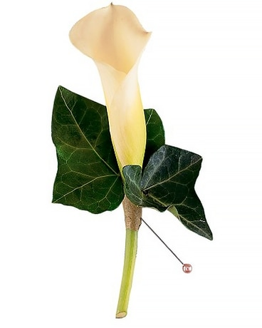 Miniature Calla Boutonniere Flower Arrangement