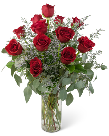 Elegance and Grace Dozen Roses Flower Arrangement