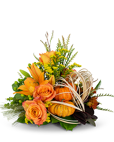 Abundant Cornucopia Flower Arrangement