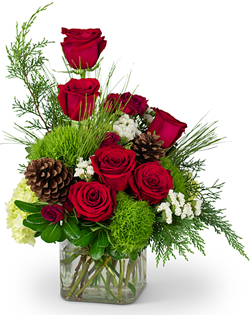 Wintertime Romance Flower Arrangement