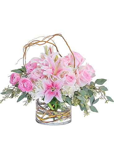 Peaceful Pink Flower Arrangement