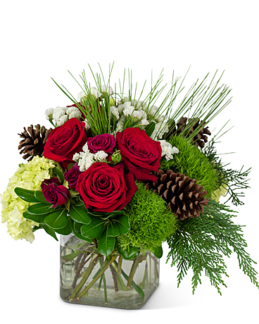 Wintertime Glow Flower Arrangement