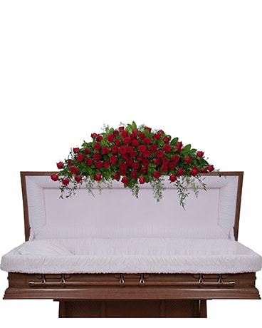 Royal Rose Full Casket Spray Flower Arrangement ...