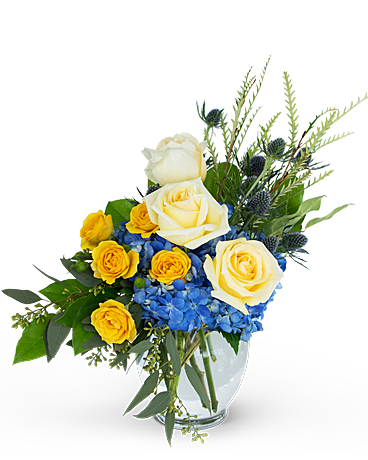 Land and Sky Flower Arrangement