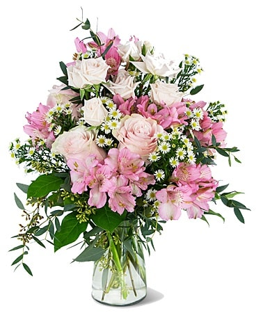 Beautiful Pink Meadow Flower Arrangement