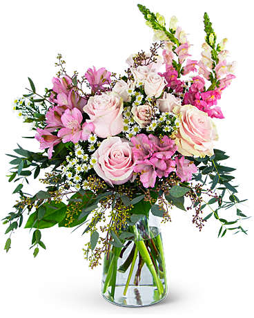 Gentle Pink Meadow Flower Arrangement