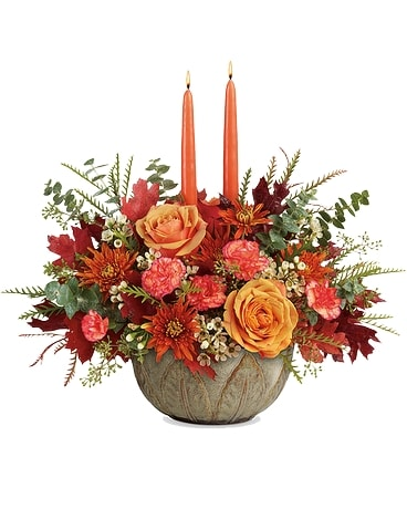 Teleflora's Artisanal Autumn Centerpiece Flower Arrangement