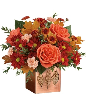 Teleflora's Copper Petals Bouquet Flower Arrangement