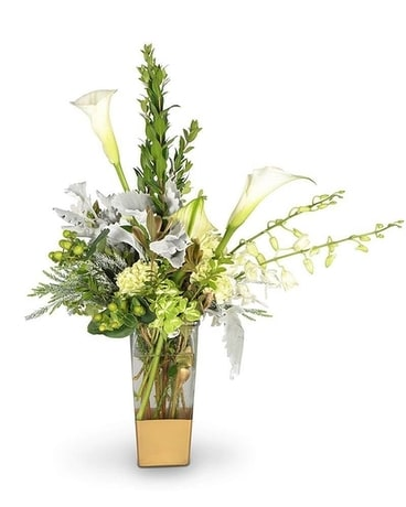 Elegant Greens Flower Arrangement