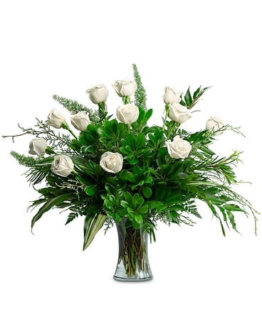 Winter Pearls Flower Arrangement