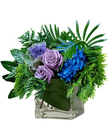 Moody Blues Flower Arrangement
