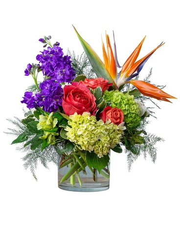 Coral Sunrise Flower Arrangement