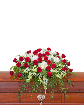Enduring Strength Casket Spray Flower Arrangement