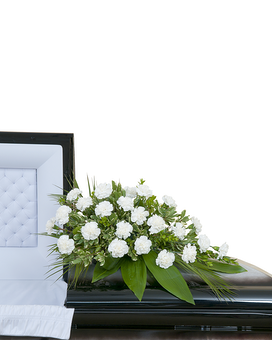 Simple Love Casket Spray Flower Arrangement