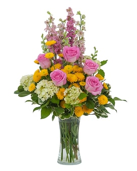 Pink and Much More Flower Arrangement