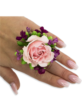 Prepster Floral Ring Custom product