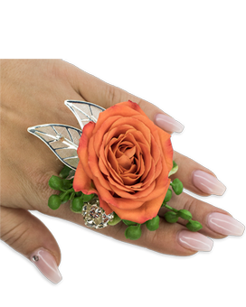Tangerine Floral Ring Custom product