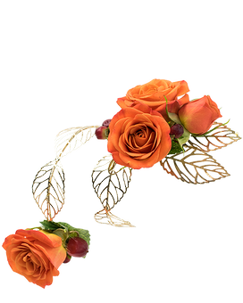 Tangerine Arm Band Corsage