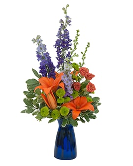 Cheer the Blues Flower Arrangement