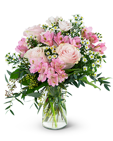 Pink Meadow Flower Arrangement