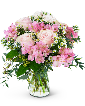 Soft Pink Meadow Flower Arrangement