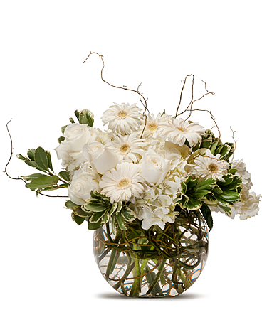 Naturally White Flower Arrangement