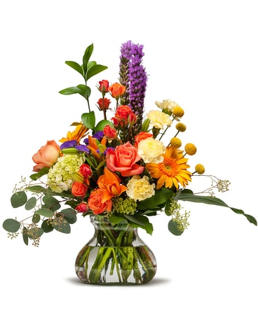 Shimmering Papaya Flower Arrangement