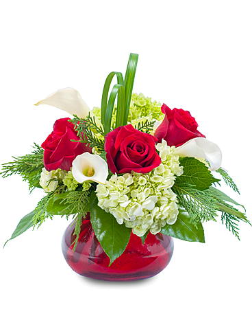 Chic Winter Romance Flower Arrangement